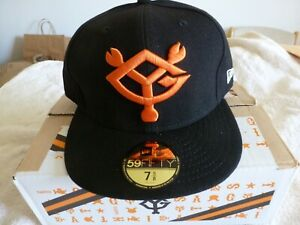 NEW Japan TOKYO YOMIURI GIANTS NEW ERA Baseball Cap Hat Black/ORANGE 7 5/8 FITED