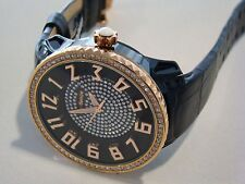 TENDENCE GLAM BLACK FULL STONE 3H LADIES WATCH BNIB RRP $595