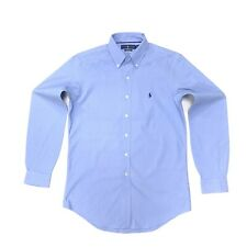 Ralph Lauren Men's Classic Fit Performance Shirt In Blue Size S