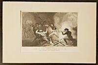 Baie Famine, Marins du navire L'étoile attaqués, Gravure de 1880 par Pardinel.