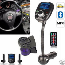 LCD Car Kit MP3 Bluetooth Player Audio FM Transmitter FM Modulator Radio SD MMC