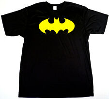 BATMAN T-shirt Bat Signal Logo Superhero Tee Mens LARGE 100%Polyester Black New