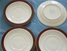 "JEPCOR Chocolate Mousse Saucer Set of 4 China 6 1/2"" each"