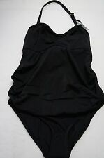Topshop SIZE US 6 Braided Trim One-Piece Maternity Swimsuit Black