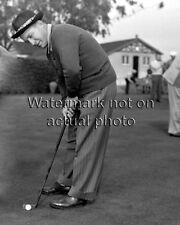 Bing Crosby RARE golf photo movie star singer putting