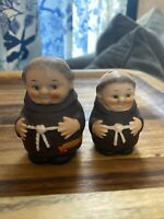 Vintage Goebel  Salt & Pepper Shakers Set Monk Friar Tuck Niagara Falls