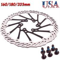 MTB Bike Disc Brake Rotor 160/180/203mm Cycling 6-Hole Disc Brake Rotor Steel