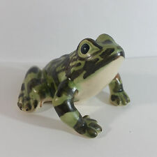 Vintage Brush Painted Decorative Ceramic Frog Figurine ~ Unmarked McCoy?