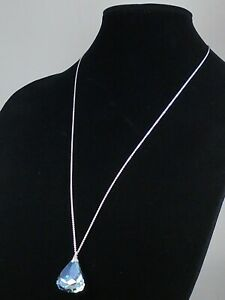 Swarovski Rhodium Plated Sapphire SPIRIT CRYSTAL Long Necklace 5521034 $169