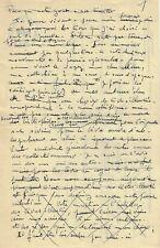 BONNET Paul, manuscrit autographe.