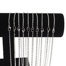 Wholesale 10 Pieces/Lot Silver Plated Making Diy Hard Link Chain Necklace 24'