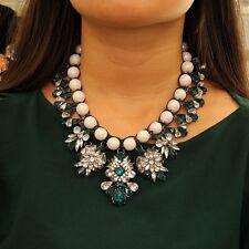 Collier Perle Tissage Cristal Extravagant Vert Tissu Artisan Original SRK 2