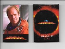 ARMAGEDDON~1998 movie pinback button memorabilia #7 & 8 Ben Affleck Bruce Willis