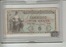 World paper money Us bank notes Military payment Certificate 5 cents Series 481