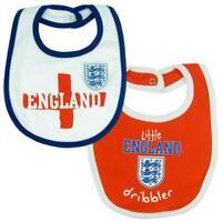 England FA 2 Pack Baby Bibs Football Team Supporter Baby Shower Dribbler