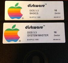 Apple II Plus DOS 3.3 System Master / BASICS - Works on Apple II Computers