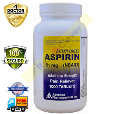 Aspirina 81 MG Para Dosis Baja Analgésico Genérico Advance Pharmaceutical
