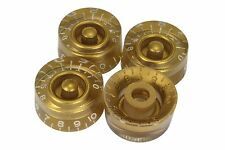 Speed Knobs Gold w/ embossed numbers for Gibson Les Paul 4pk