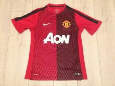 "Manchester United Men's Medium Nike Dri-Fit Red & Black Football Shirt 34"" Chest"