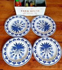 S/4 Williams Sonoma Aerin Fairfield Melamine Dinner Plates Set NEW