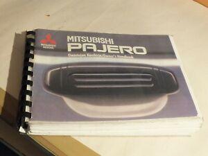 New Mitsubishi Pajero owners handbook 1991  MB853373B  F13