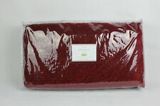 Pottery Barn Washed Velvet Silk F/Q Full/Queen Quilt RUBY RED