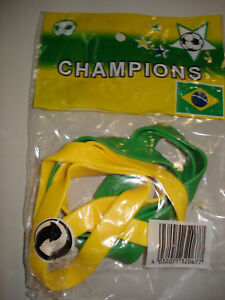 Sonderpreis ! Gummihandgelenk-Bänder Brasilien Fussball Fanartikel
