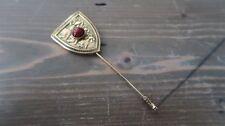 Vintage Gold Tone Jasper Lion Stick Pin