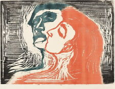 Edvard Munch Head By Head Giclee Canvas Print Paintings Poster Reproduction
