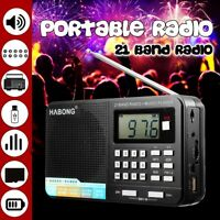 Portable Pocket Radio Personal Handheld AM FM TF Digital MP3 Rechargeable USB