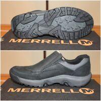 "NIB Mens MERRELL Slip On ""ANVIK MOC"" Casual Hiking Shoes Black Size 7.5 J95159"