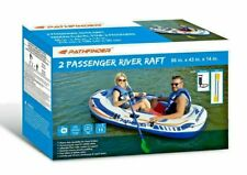 2 Person Inflatable Raft Boat With Pump & Oars; River Lake Kayak Canoe Dinghy