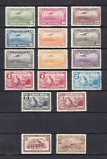 COSTA RICA AERO MH *  1934-1937 lot of 16 stamps on 2 pages air
