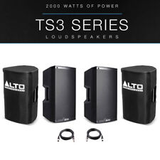 "2x Alto TS310 10"" 4000W Powered Active PA Speaker Stage Monitor + Covers + Leads"