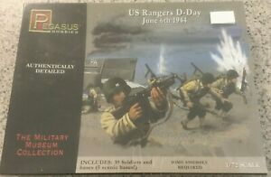 Pegasus Hobbies-US Rangers D-Day June 6th 1944-No.7351-1/72 model figure kit