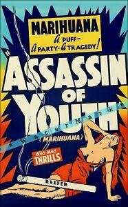 Assassin Of Youth 1937 Anti-Marihuana Film Vintage Poster Print Retro Movie Art