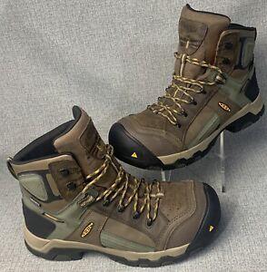 "Keen Utility Mens 6"" Davenport Size 11D Composite Toe Waterproof Work Boots"