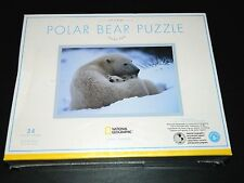 National Geographic Polar Bear Puzzle 24 Piece By Pottery Barn Kids. Brand New!
