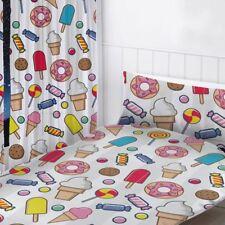 "Dulces Sueños cortinas Readymade 54"" gota Chicas-helados, cookies, Donuts"