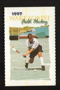 Wake Forest Demon Deacons--1997 Field Hockey Pocket Schedule--Nike