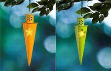 6x Velas de Té Soporte Cono Verde Naranja Antorcha Deco Jardín Cadena