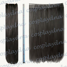 """24"""" Black Heat Stylable Hair Weft Extention (3 pieces) Cosplay DNA 7001"""