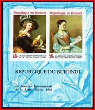 BURUNDI 1968 PAINTINGS S/S imperforated MNH  LIOTARD, etc., COSTUMES