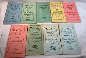 Lot Of 9 DEKALB COUNTY ILLINOIS YEAR BOOK IL SYCAMORE SANDWICH CORTLAND WATERMAN