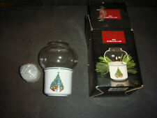 House of Salem Noel Porcelle Mini Hurricane Lamp Votive Candle Holder Vintage