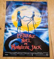 L'ÉTRANGE NOEL DE MONSIEUR JACK Affiche cinéma 40x60 HENRY SELLICK, TIM BURTON