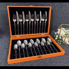Cutlery set Hermes (24 pieces, 6 persons)  AUTENTHIC 100% NEW WITH BOX