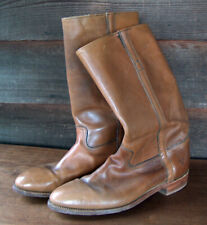 Vintage Mens Frye Campus Boots Brown Leather Riding Western Cowboy Size 12 D