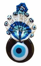 Nazar Evil Eye Chrochet Turkish Home Blue Lucky Amulet Charm Wall Hanging NEW