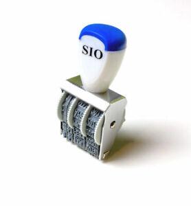 Datumstempel SIO aus Metall, Monate in Zahlen oder Buchstaben wählbar
